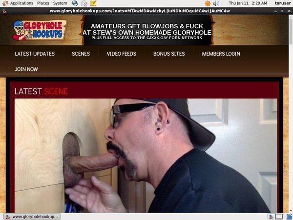 Glory Hole Hookups Member Access
