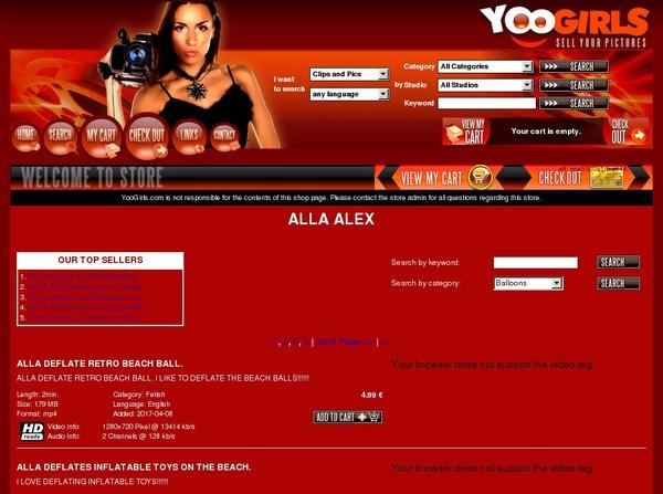 User Pass AllaAlex